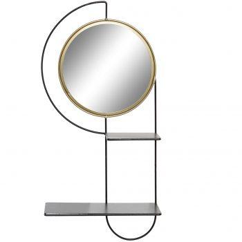 Wandrek met Spiegel Eleganca Phi - Goud - 60 x 25 x 14 cm