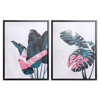 Tropical Canvas Set van 2 - L 60 x H 80 cm (incl. lijst)
