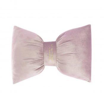 Fluwelen Kussen Valentina Bow - Roze -Velvet (incl. vulling)