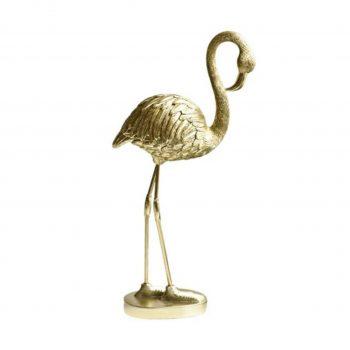 Deco Object Flamingo Goud - H25CM