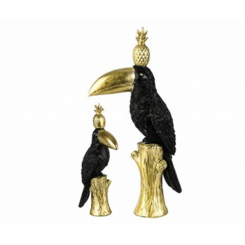 Set van 2 Deco Object Toucan Pine Apple - H31/H17