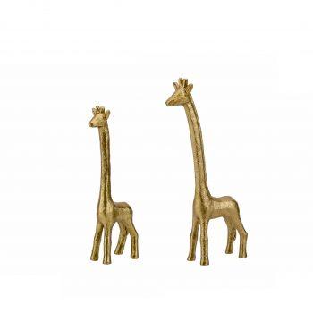 Set van 2 Deco Object Giraf Goud - H31/H21