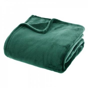 Flanellen fleece plaid Groen - XL 180 x 230 cm