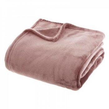 Flanellen fleece plaid Roze - XL 180 x 230 cm