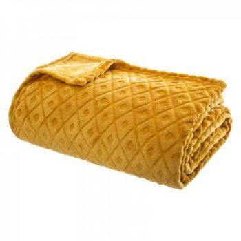 Flanellen fleece plaid Cubic Grijs - XL 180 x 230 cm