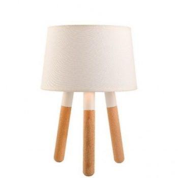 Tafellamp Wood wit - H22 cm