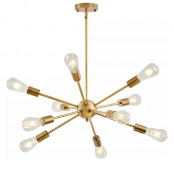 Design Hanglamp / Kroonluchter Spike - Goud - 10 lichts