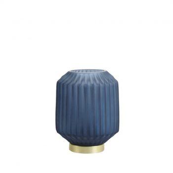 LED-lamp Marine Blauw - Goud - Werkt op batterijen (incl. lamp) - Medium Ø13 x17 cm