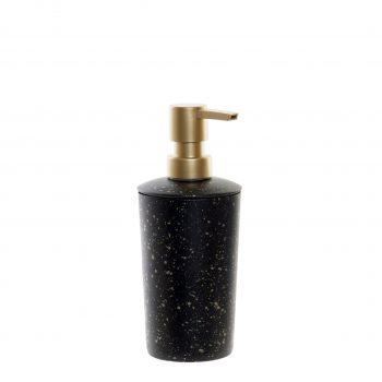 Zeep pompje/dispenser Black Spots - Zwart/Goud