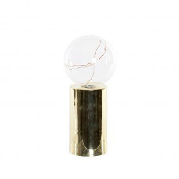 LED Tafellamp metallic Gold - Werkt op batterijen (incl. lamp)