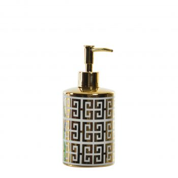 Porselein Zeep pompje/dispenser Glam Fendi - Wit /Goud