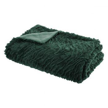 Flanellen fleece plaid Tropical Tijm Groen - L 120 x 160 cm