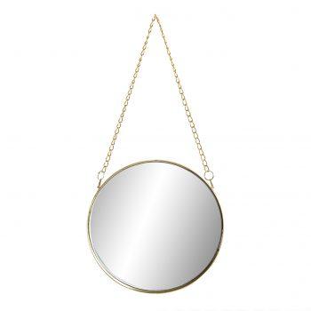 Wandspiegel Elegance Chain Goud - Ø 20