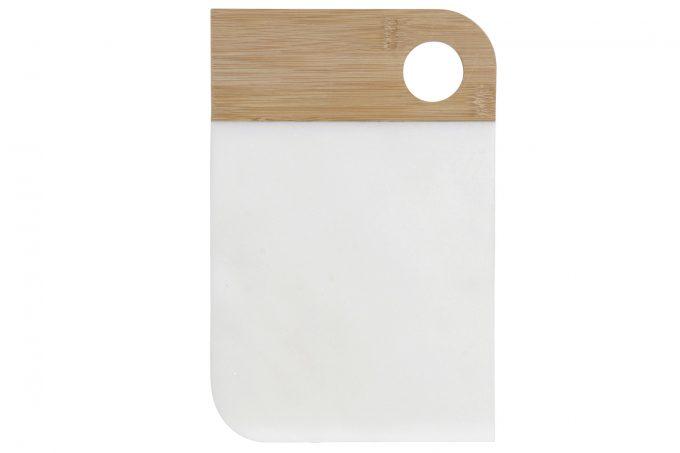 Snij en Serveerplank van Marmer & Bamboe