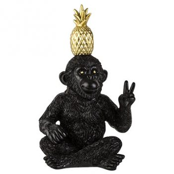 Ornament Monkey Pine Apple peace - H13