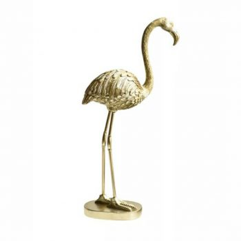 Deco Object Flamingo Goud - H30CM