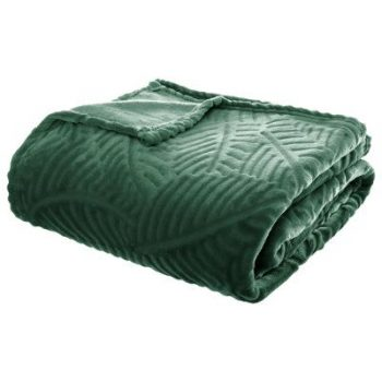 Flanellen fleece plaid Leaf Groen - XL 220 x 240 cm