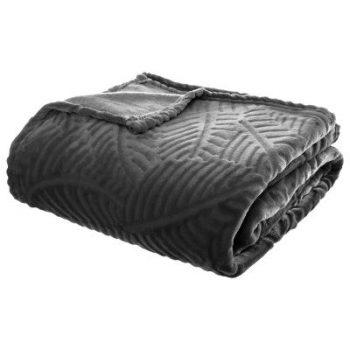 Flanellen fleece plaid Tropical Grijs - XL 220 X 240 cm