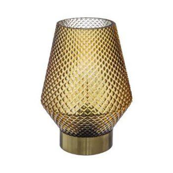 LED-lamp Ocre - Oker Geel - Goud - Werkt op batterijen (incl. lamp) - Ø12 x17 cm