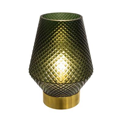 LED-lamp Green - Groen - Goud - Werkt op batterijen (incl. lamp) - Ø12 x17 cm