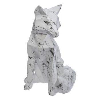 Decoratief beeld Fox Origami Marble Wit - Vos - B 15,5 xH 25,5 CM