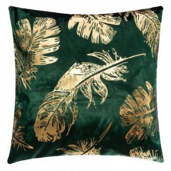 Velvet Kussen Feather Groen - 45 x 45 cm (incl. vulling)
