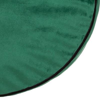 Velvet Zit/Vloer Kussen Ottoman - Tijm Groen - Ø45 x H15 cm (incl. vulling)