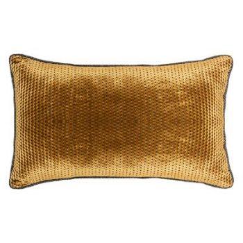 Velvet Kussen Gold Ocre - Oker/Goud 30 x 50 cm (incl. vulling)