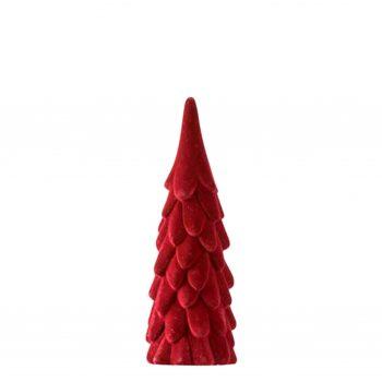 Velvet Kertsboom - Bordeaux rood - H23cm