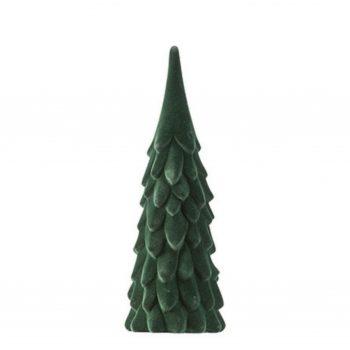 Velvet Kertsboom - Donker groen - H31 cm