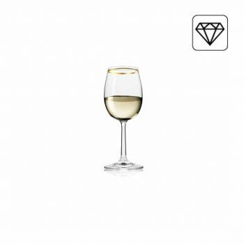 Set van 6 - Wijnglas - Gouden Rand -170ML