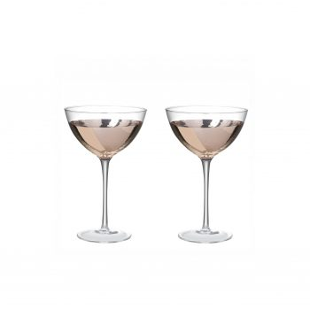 Set van 2 - Martine/Cocktail Glas - Rose Goud/ Koper -170cl