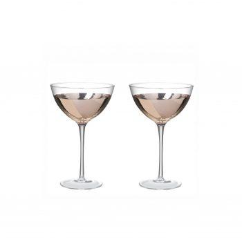 Set van 2 - Martine/Cocktail Glas - Rose Goud/ Koper -170cl