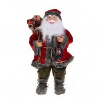 Kerstman - Rood/Grijs - H60cm