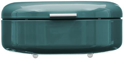 Retro Broodtrommel Turquoise Blauw - Metaal
