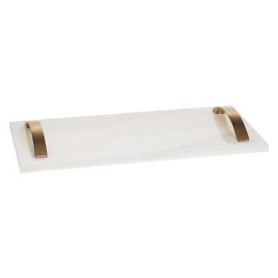 Marble Tray Tapas Set - Serveer Dienblad - Wit Marmer - Goud