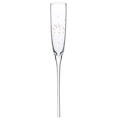 Luxe Champagne Glas/Flute - Set van 6 - Gouden Rand (inclusief emmer)