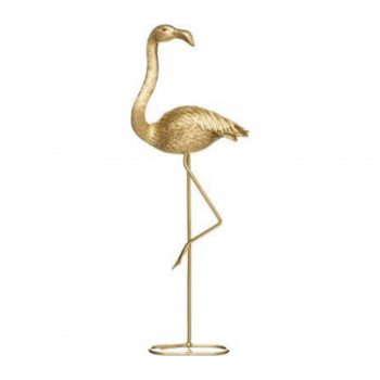 Deco Object XL Flamingo Goud - H53CM