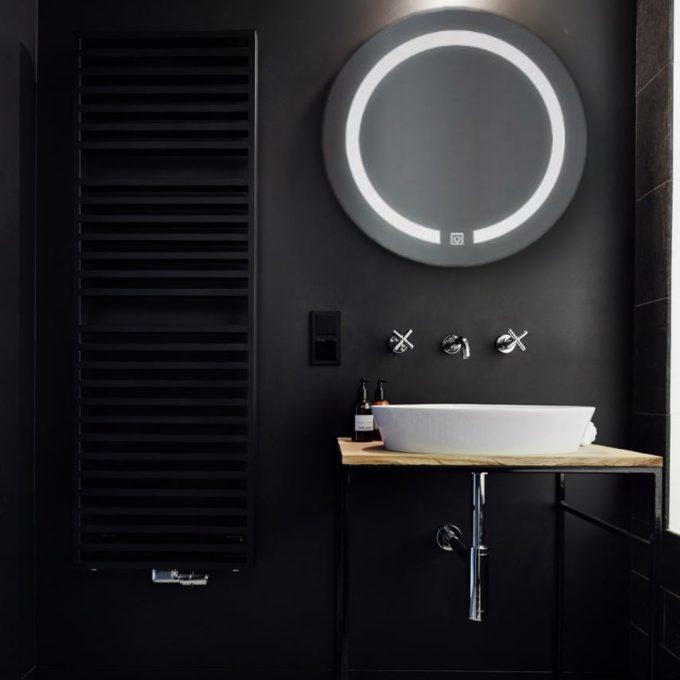 Badkamerspiegel Omega Touch Rond Led-Verlichte - Werkt op Batterijen - Ø 45 cm