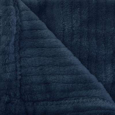 Flanellen fleece plaid Line Blauw - L 125 x 150 cm