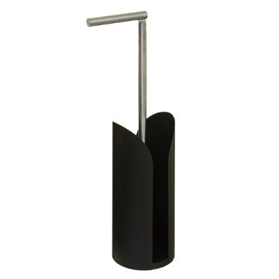 Toiletrolhouder met houder Scandinavic - Zwart