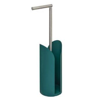 Toiletrolhouder met houder Scandinavic - Turquoise