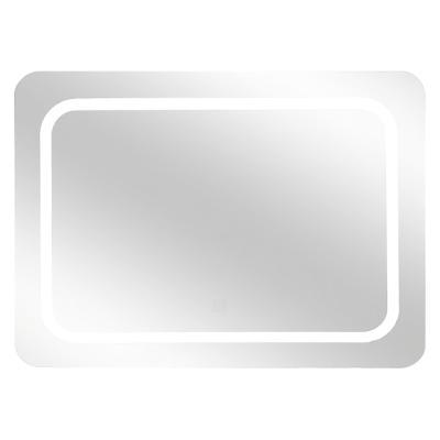 Badkamerspiegel Omega Rechthoek Led-Verlichte - Werkt op Batterijen - Touch Schakelaar - 65 x 49 cm