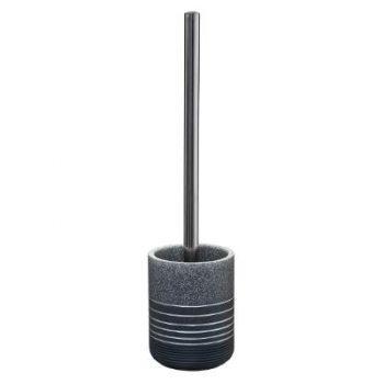 Toiletborstel met houder Graniet - Grijs / Zilver