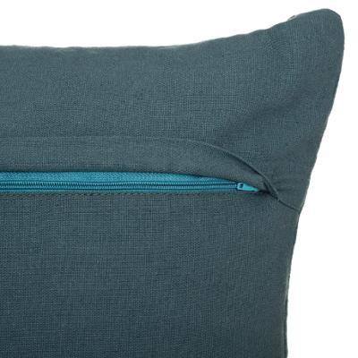 Fluwelen Kussen Milano - Blauw - Velvet - 40 x 40 cm (incl. vulling)
