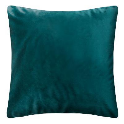 Fluwelen Kussen Weave Petrol Blauw - Velvet - 40 x 40 cm (incl. vulling)