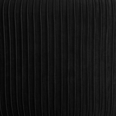 Velvet Poef Lines Tijm Zwart - Ø35 cm x H42 cm