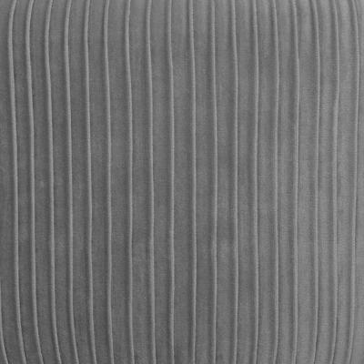 Velvet Poef Lines Grijs - Ø35 cm x H42 cm