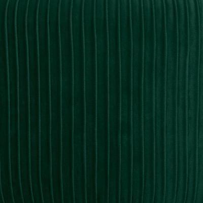 Velvet Poef Lines Tijm Groen - Ø35 cm x H42 cm