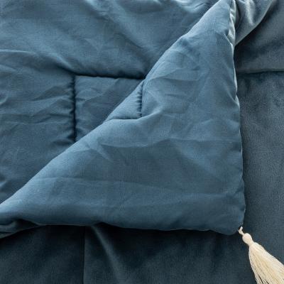 Velvet Bed loper Runner Blauw - 80 x 180 cm